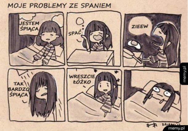 Moje problemy ze spaniem