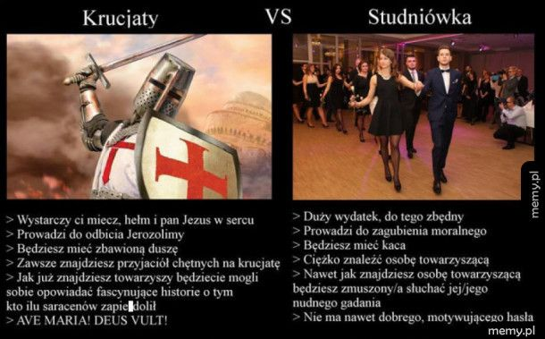 Krucjaty vs. studniówka