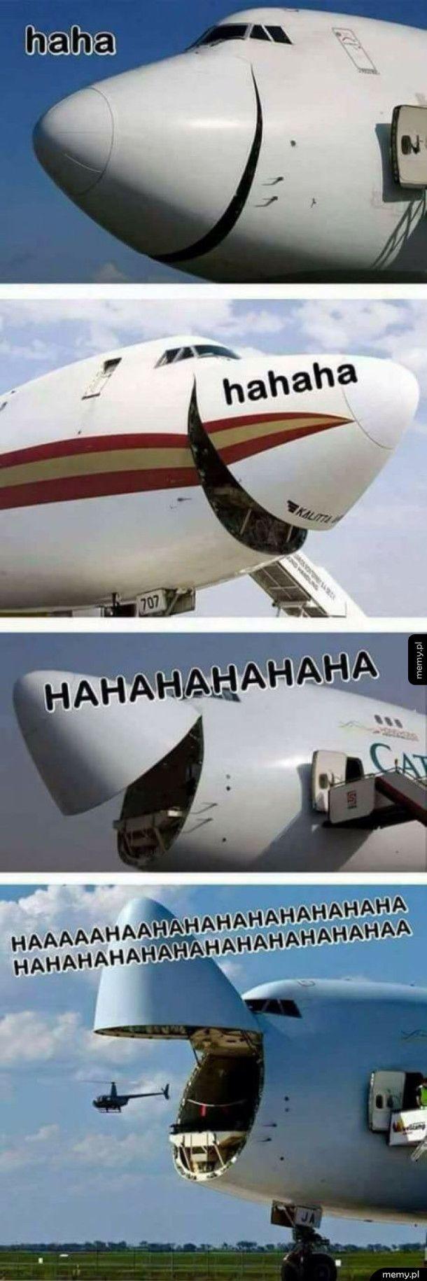 Samoloty mają wesoło