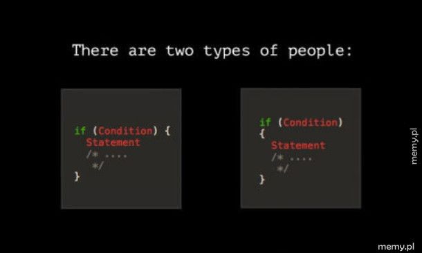 Istnieją dwa rodzaje ludzi: