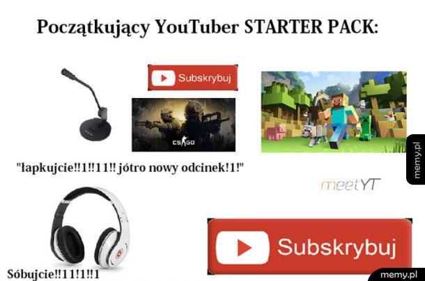 Youtuber starter pack