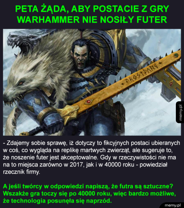 PETA vs Warhammer