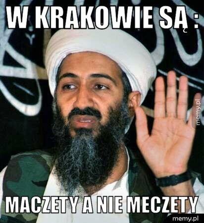 W Krakowie są :  Maczety a nie Meczety