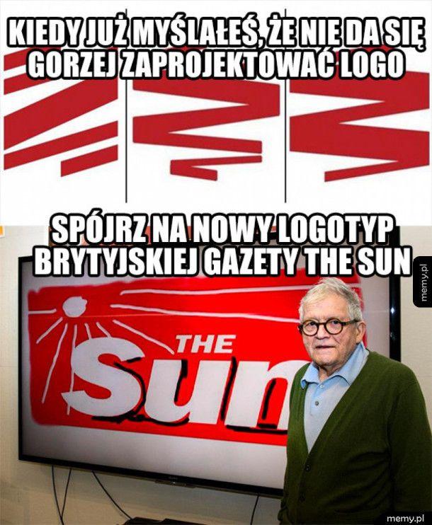 Brytyjski The Sun ma nowe logo