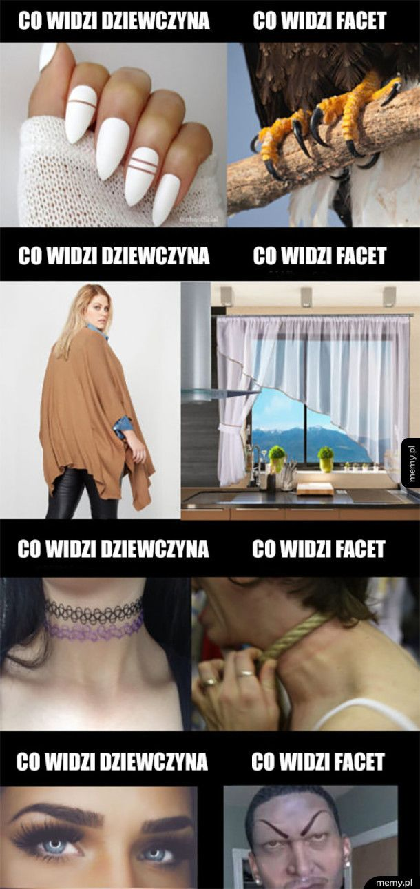 Co widzi kobieta vs co widzi facet