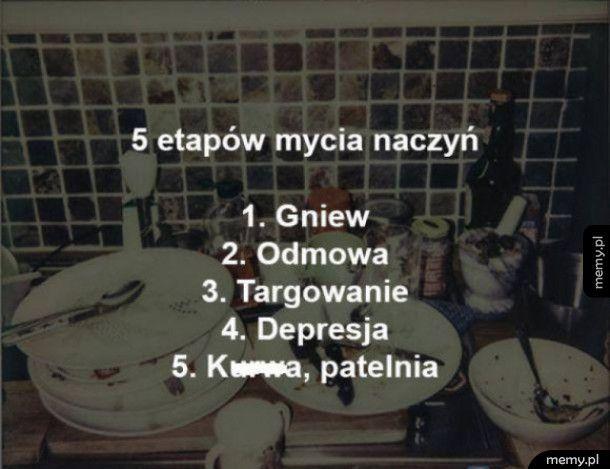 Gdy facet myje naczynia