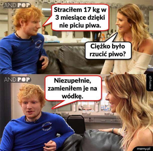 Ed Sheeran to swój chłop