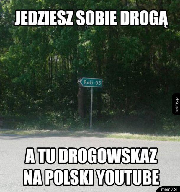 Drogowskaz na polski YouTube
