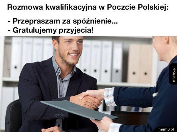 Rozmowa kwalifikacyjna w Poczcie Polskiej