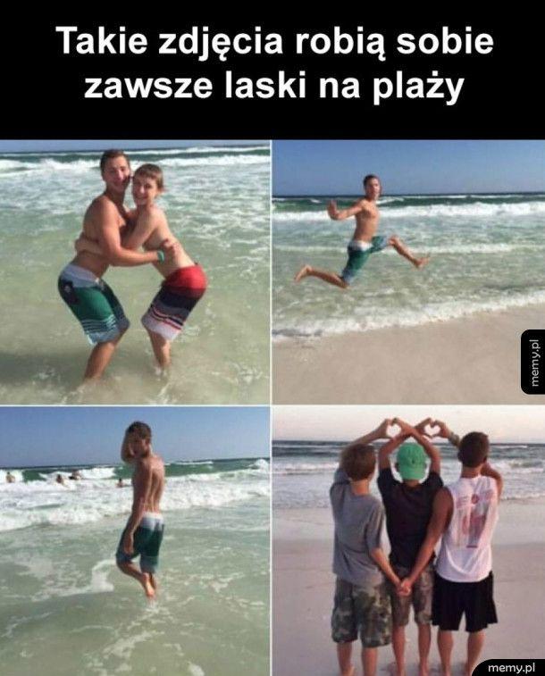Laski na plaży