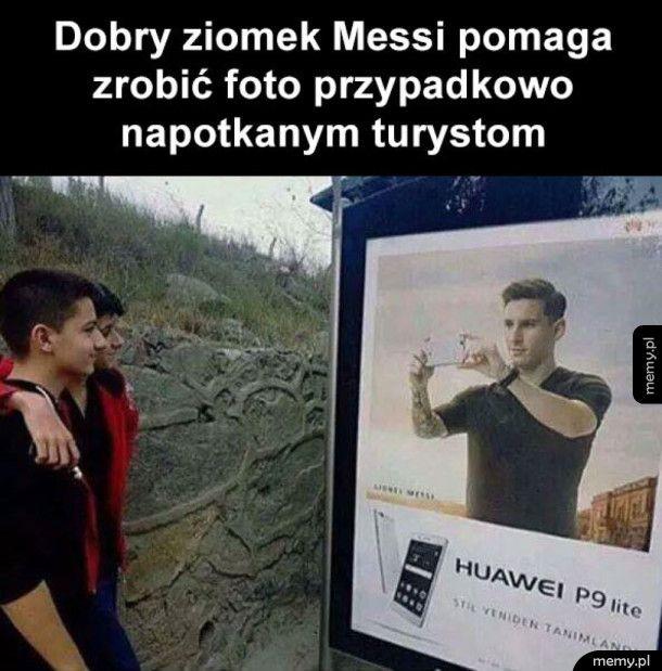 Dobry ziomek Messi