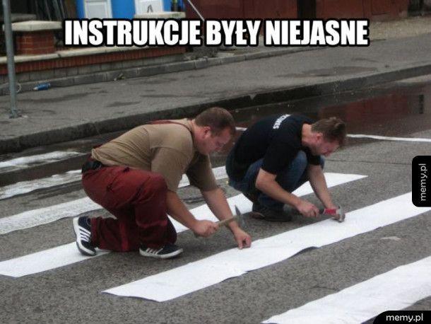 Instrukcje były niejasne