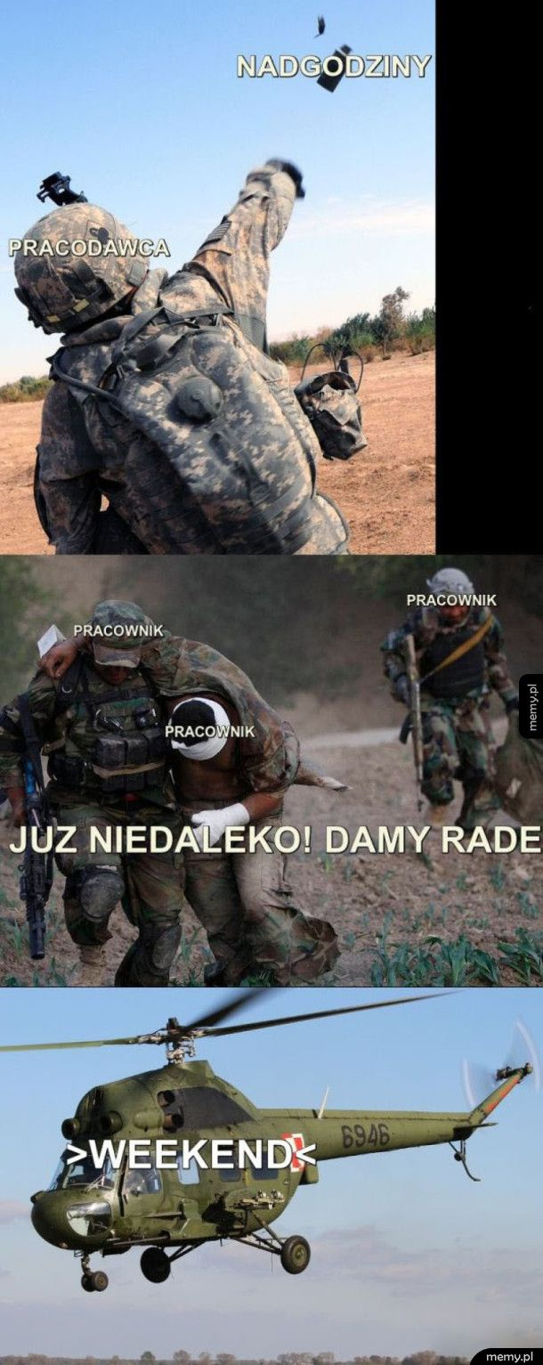 Praca vs weekendzik