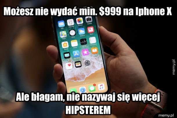 iPhone X vs. Hipster