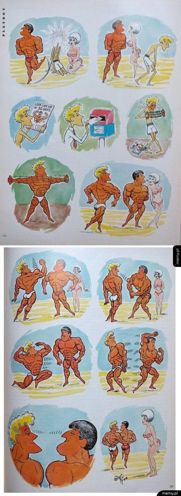 Komiks z Playboya z 1966 roku
