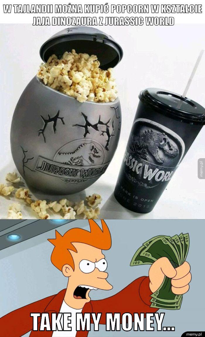 W tajlandii można kupić popcorn w kształcie jaja dinozaura z jur  take my money...