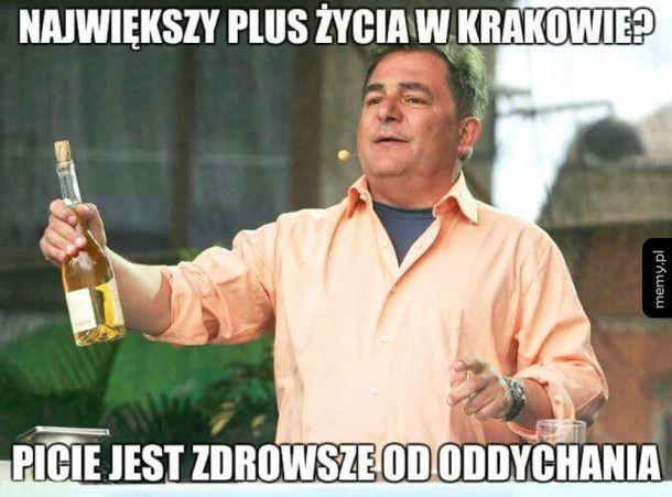 Największy plus życia w Krakowie