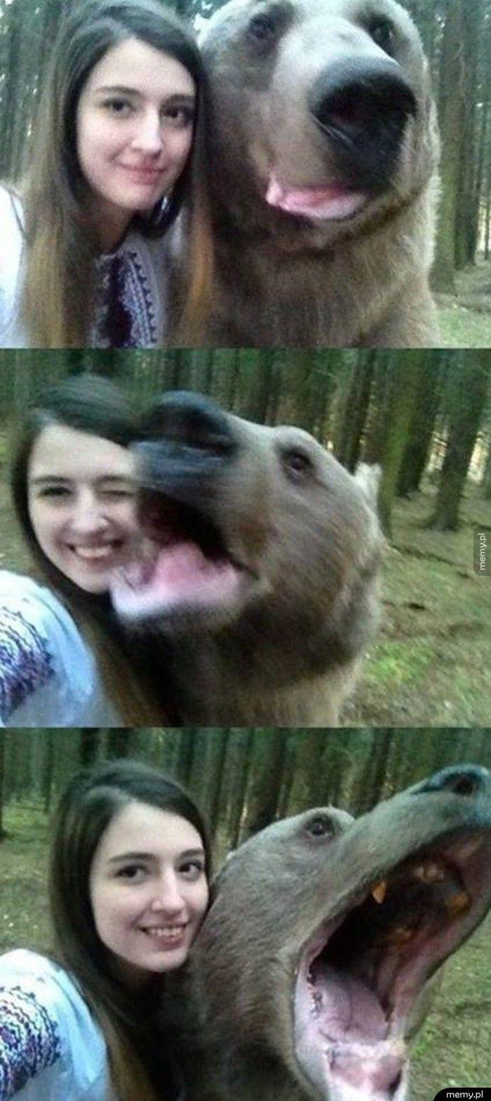 Selfie z misiem