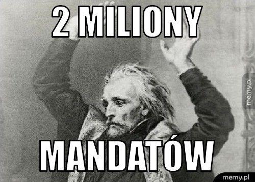 2 miliony mandatów