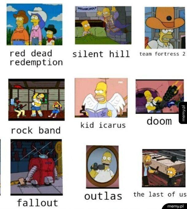 Gry jako Simpsonowie