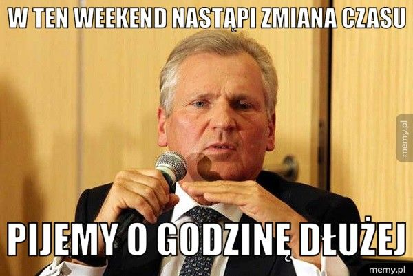 W ten weekend nastąpi zmiana czasu    Pijemy o godzinę dłużej