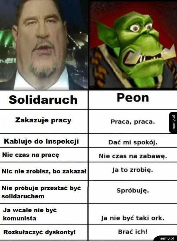 Solidaruch vs. peon