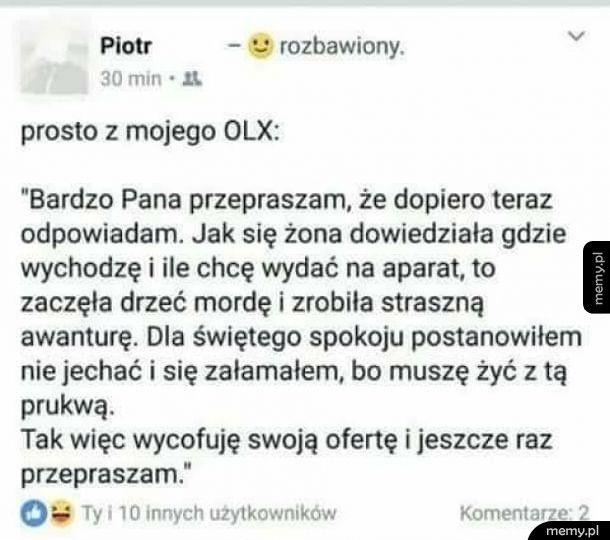 Tymczasem na OLX
