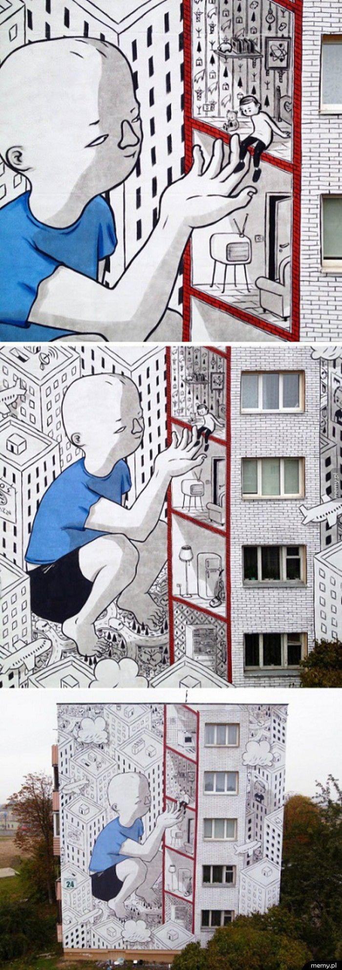 Mural w Mińsku