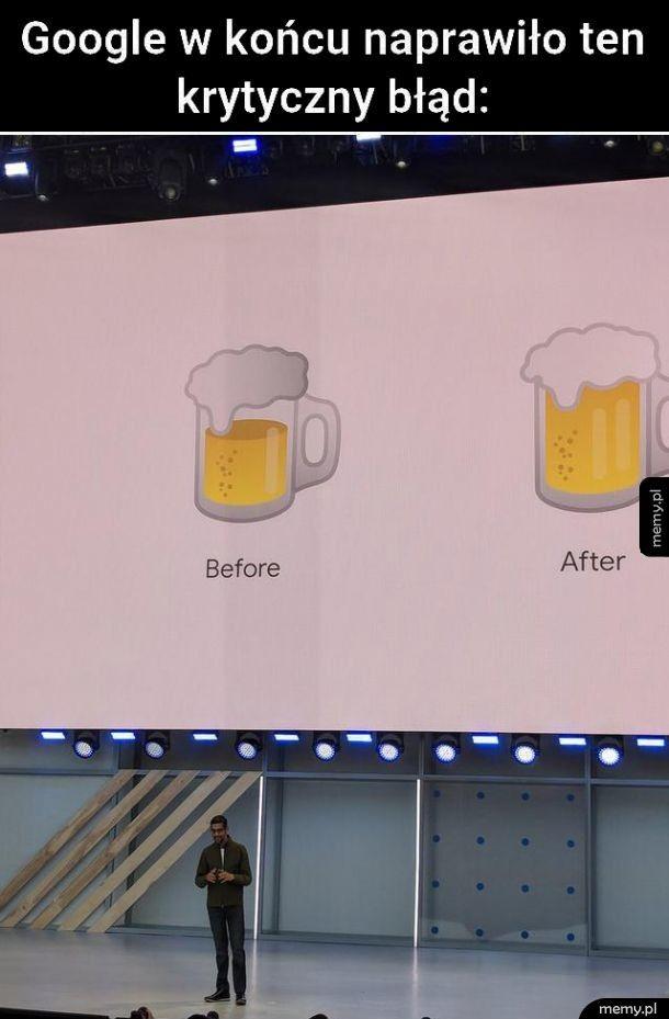 Google naprawia ikonkę