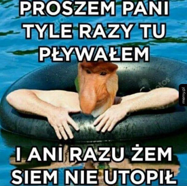 Janusz nad morzem