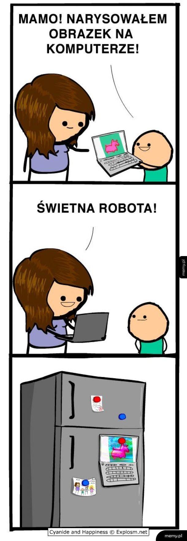 Obrazek na komputerze
