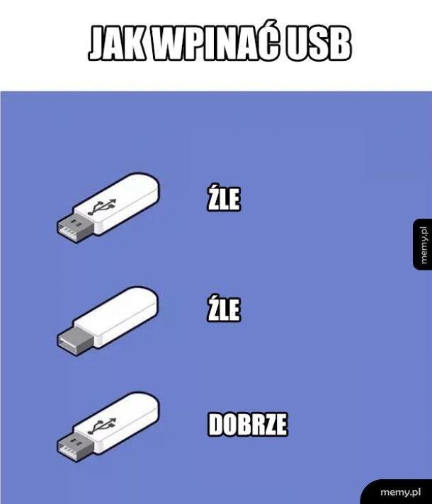 Jak wpinać USB