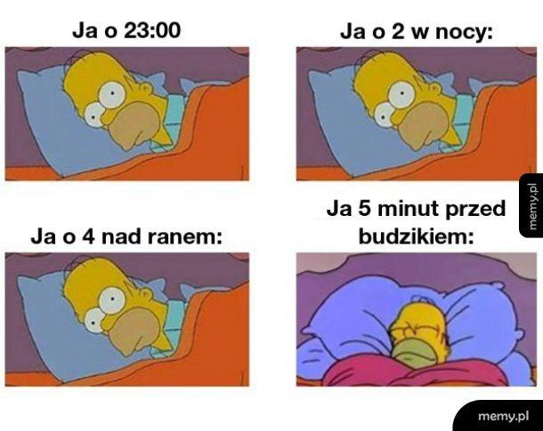 Moja spanie tak wygląda