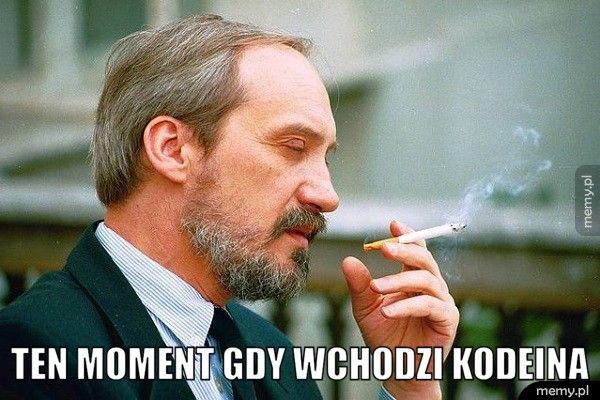 Ten moment gdy wchodzi kodeina