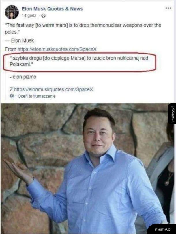 Elon ma wielkie plany