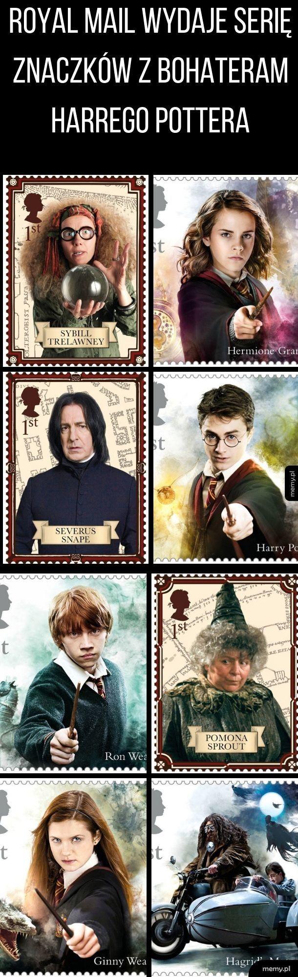 Znaczki z Harrym Potterem