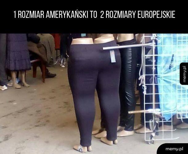 Numeracja ubrań bywa różna