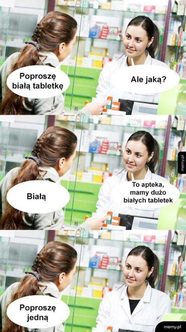 Biała tabletka