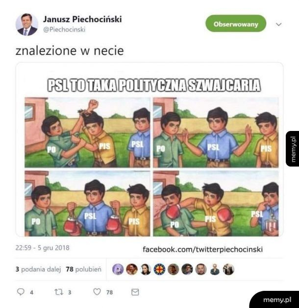 Piechociński on twitter