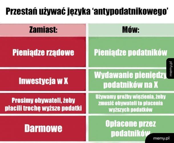 Język rządu vs jak jest naprawdę