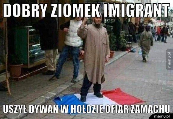 Dobry ziomek imigrant Uszył dywan w hołdzie ofiar zamachu