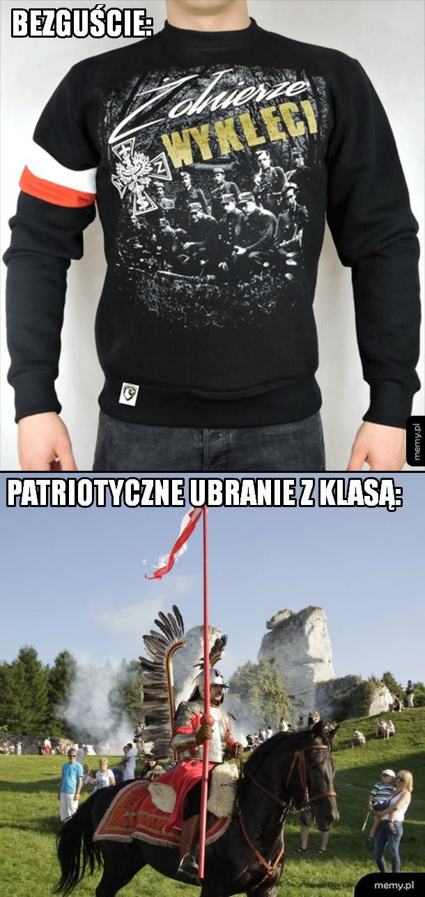 Patriotyczne ubranie z klasą