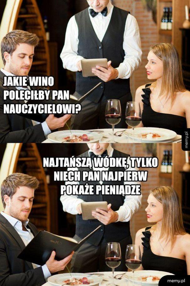Nauczyciel w restauracji