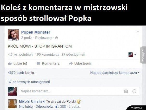 Trollowanie Popka