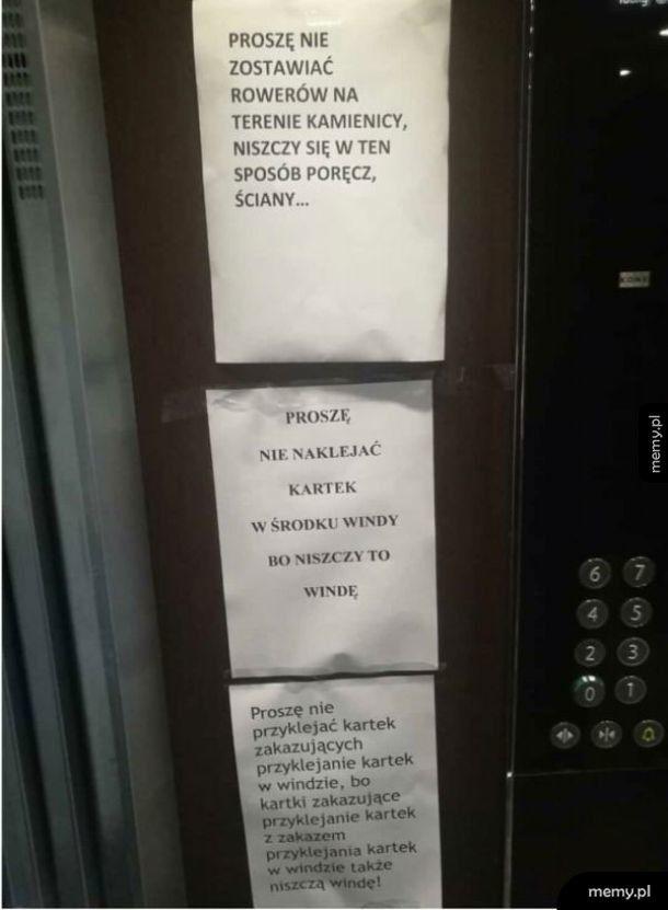 Tymczasem w jakiejś windzie