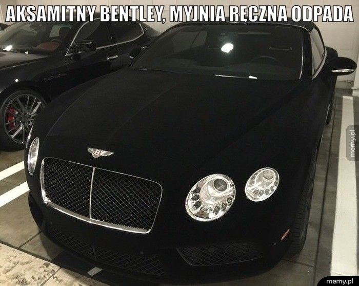 Aksamitny Bentley.