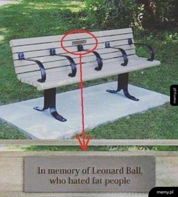 Pamięci Leonarda Balla, który nienawidził grubych ludzi