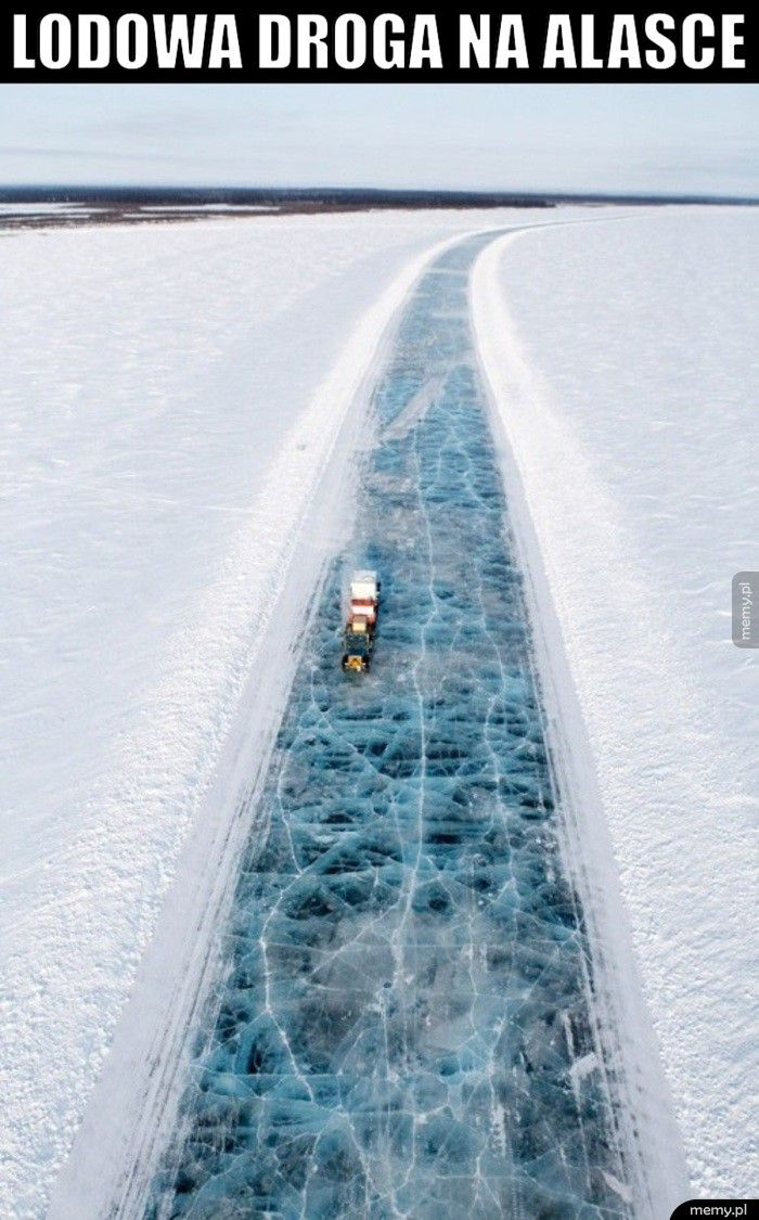 Lodowa droga na Alasce