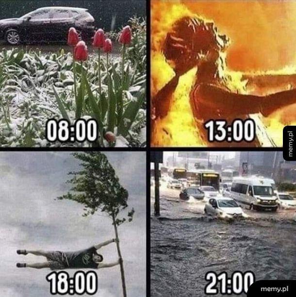 Pogoda w ciągu dnia