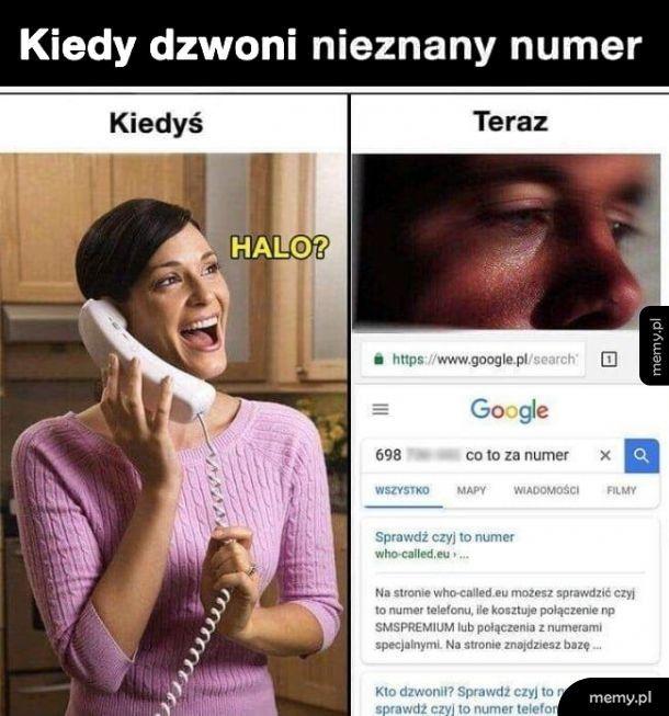 Kiedy dzwoni nieznany numer